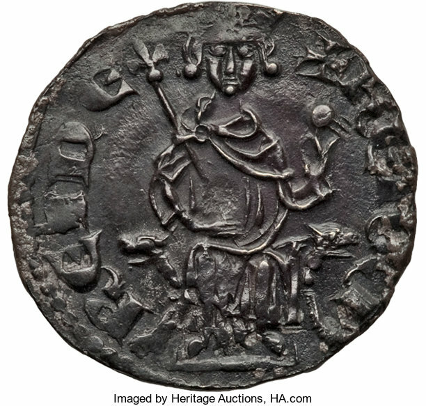 Crusader States, Crusader States: Cyprus. Henry II (2nd Reign, 1310-1324) Gros NDChoice UNC, ...